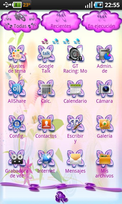 Flowers Theme Go Launcher EX - screenshot