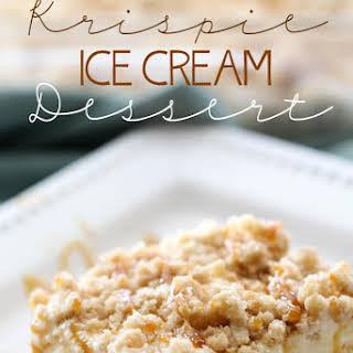 Krispie Ice Cream Dessert.