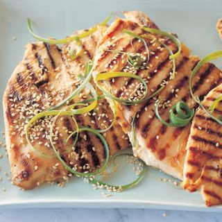 Miso-Marinated Grilled Chicken Breasts with Toasted Sesame