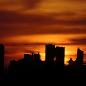 Sunset Of Jakarta by Indra Septiawan - Buildings & Architecture Office Buildings & Hotels ( #dki jakarta #uicci #twilight #sunset #building #cityscape )