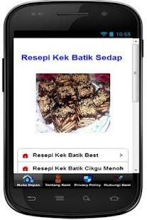 Resepi Kek Batik Sedap - náhled