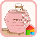 strawberry bath dodol theme icon