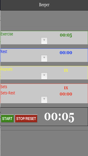 Beeper HIIT Interval Timer