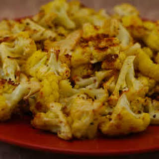Roasted Curried Cauliflower with Lemon and Cumin.