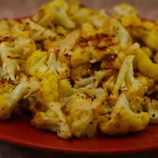 Roasted Curried Cauliflower with Lemon and Cumin.