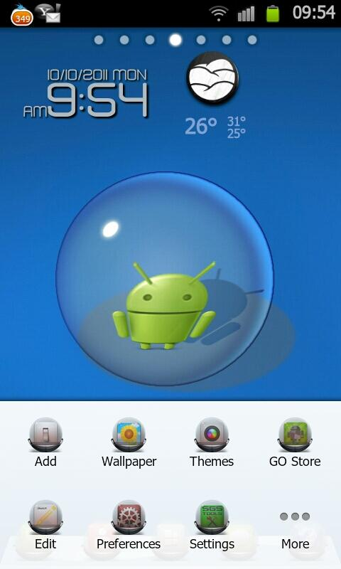 GlassBall Theme Go Launcher EX - screenshot