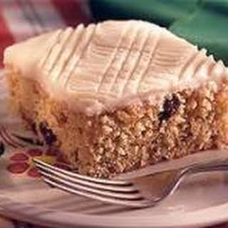 Applesauce Cake with Hot Milk Frosting.