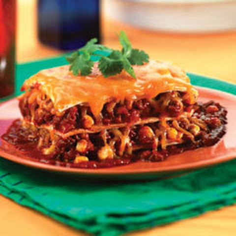 """Mexican Poblano, Spinach, And Black Bean """"Lasagne"""" With ..."""