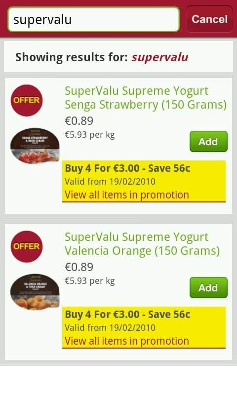 SuperValu - screenshot