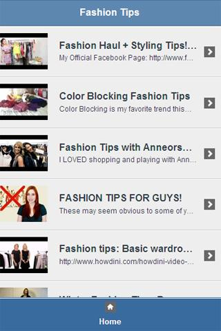 Fashion Tips Video