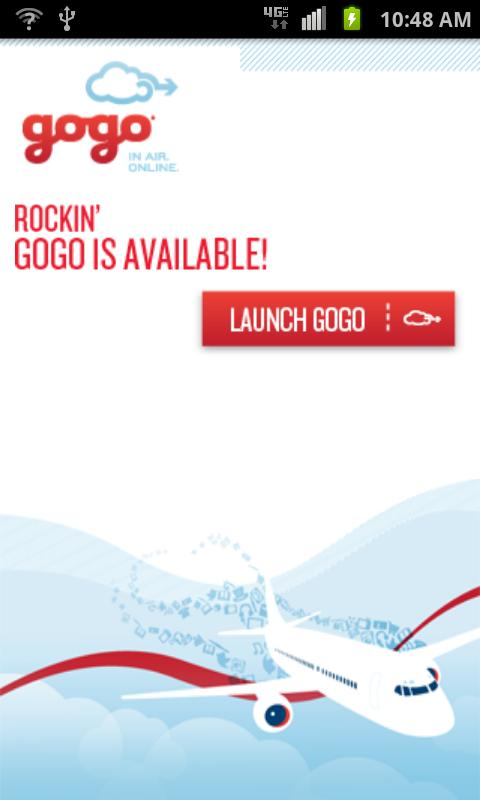 Gogo Inflight Internet- screenshot