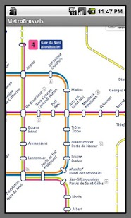 Brussels Metro Map - screenshot thumbnail