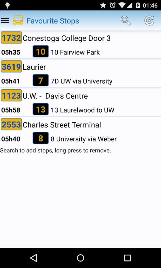 Grand River Transit - screenshot
