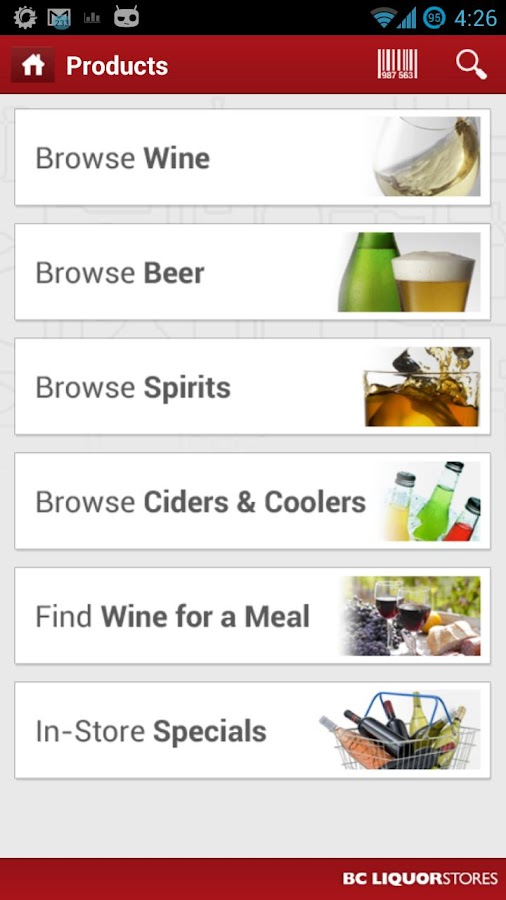BC Liquor Stores - screenshot