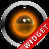 Poweramp Widget Orange Robot