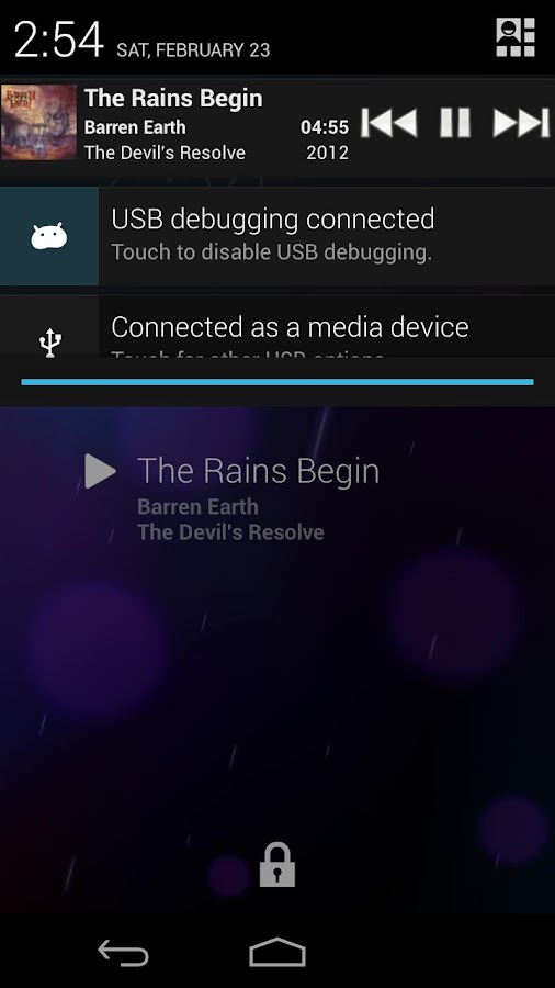 DashClock Music Extension - screenshot