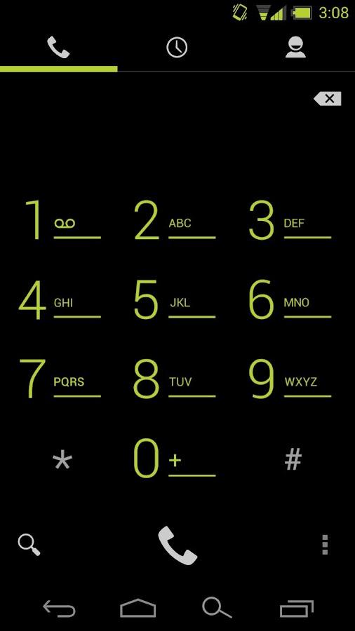 CM10 / AOKP : Holo Green Light- screenshot