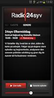 Screenshot of Radio24syv