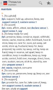 Webster's Thesaurus TR - screenshot thumbnail