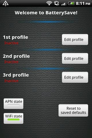BatterySave Free- screenshot