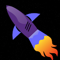 Space asteroid dodge icon