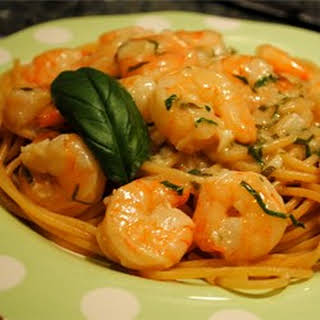 Quick Shrimp Scampi Pasta.