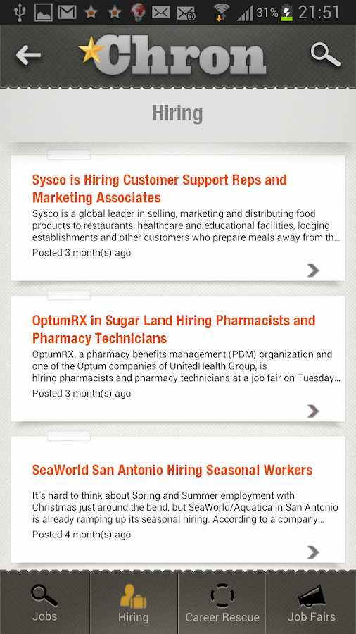 Chron Jobs - screenshot