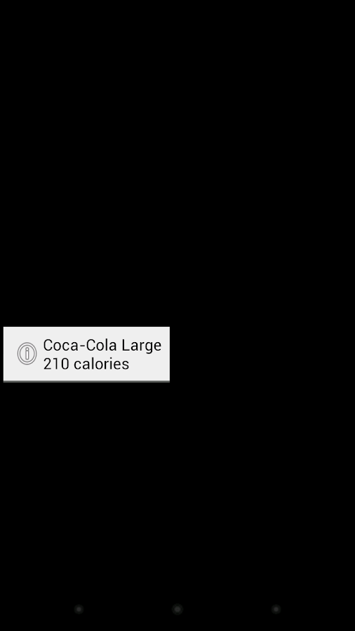 Fast Food Calorie Counter - screenshot