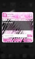 Screenshot of Pop Star Theme Pink Zebra SMS