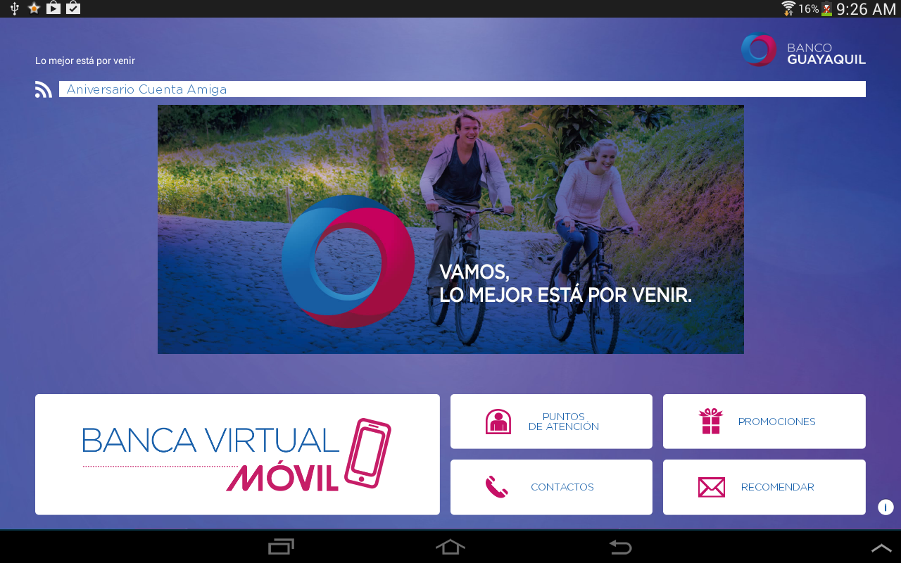 Banca Virtual Móvil - screenshot