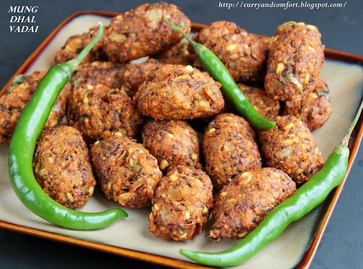 Masala Mung Bean Vadai/ Green Gram Fritters