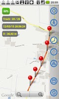 Screenshot of MapTrack  GPS real time track