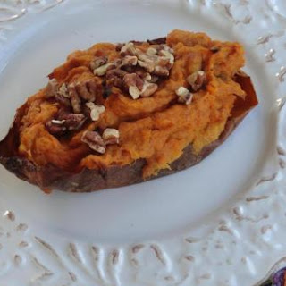 Thanksgiving Twice Baked Pumpkin-Sweet Potatoes