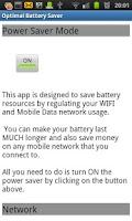 Screenshot of Optimal Battery Saver