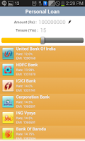 Screenshot of Bank Loan Finder