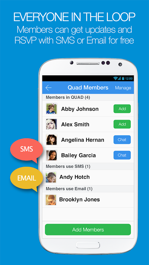 QUAD - Mobilize Your Groups - screenshot