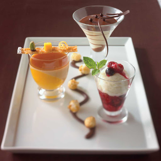 Tuscan Toffee Panna Cotta - Toffee Panna Cotta served in Celebrity Cruises's Tuscan Grille dining room.