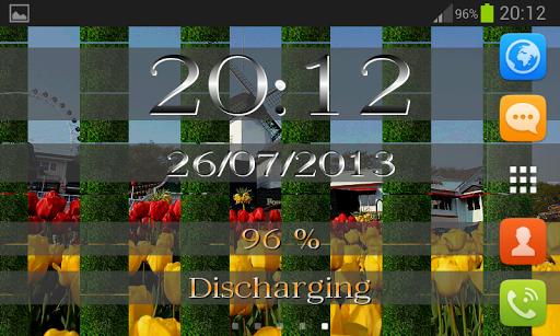 【免費個人化App】Clock & Battery wallpaper pro-APP點子