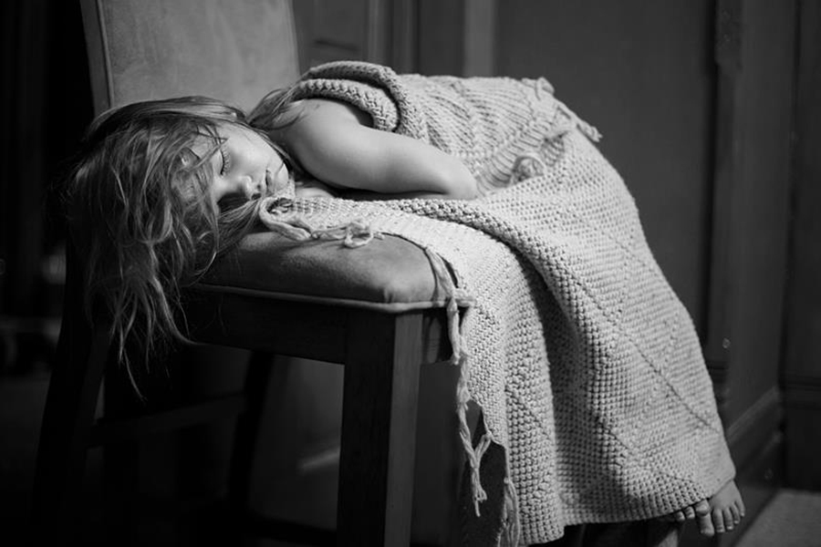 Little Girl Sleeping on Chair with Blanket by Andrea Riley - Babies & Children Children Candids ( chair, blanket, girl, little, sleeping, sleep )