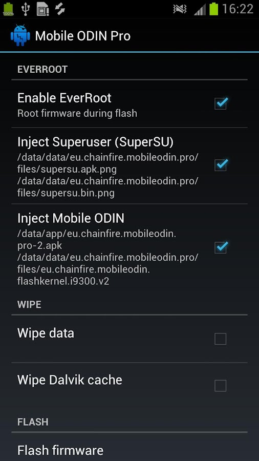 [root] Mobile ODIN Pro: captura de pantalla