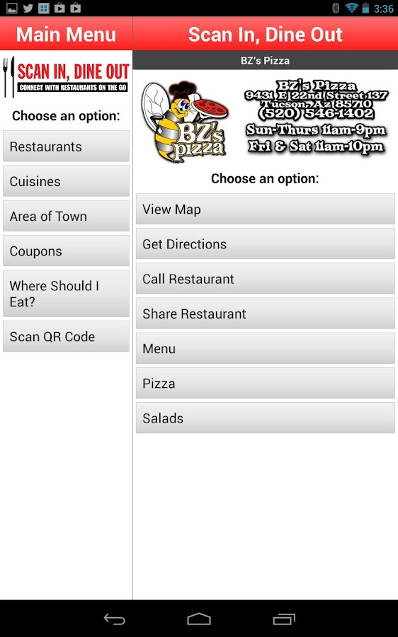 Scan In Dine Out - screenshot