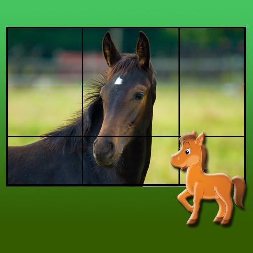 子供のための馬のパズル 休閒 App LOGO-APP試玩