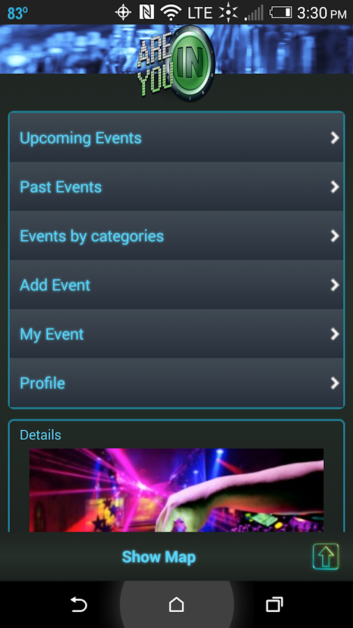 Are you IN: Nightlife Events- screenshot