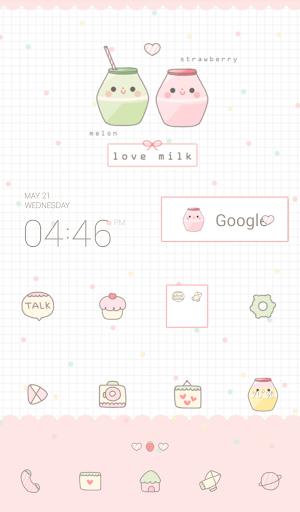 love milk 도돌런처 테마