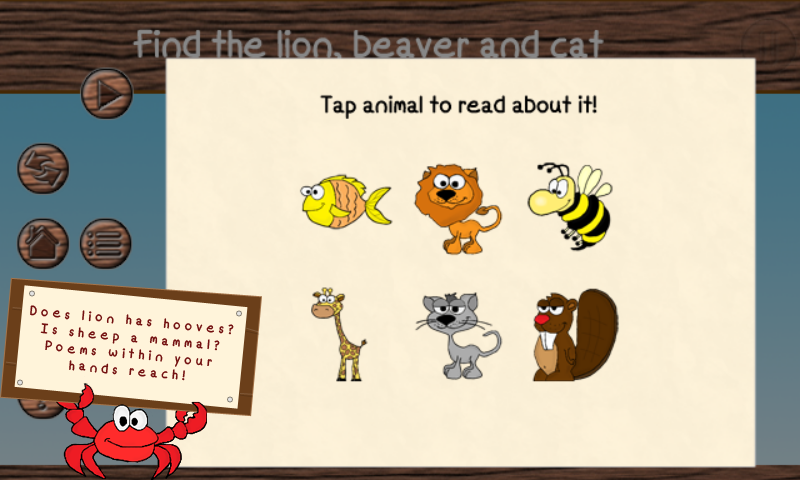 Get to know animals kids demo - screenshot