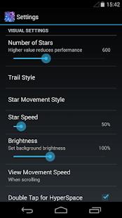 Starfield 3D Parallax LWP - screenshot