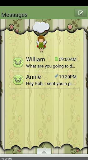 FlowerAngel GO SMS THEME