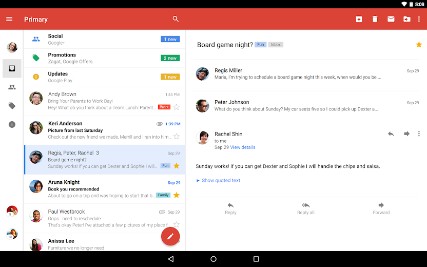 Screenshot 4 for GMail's Android app'