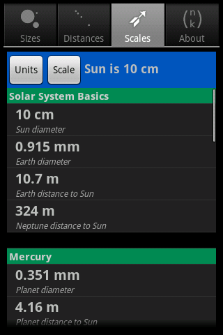 Solar Sizer- screenshot