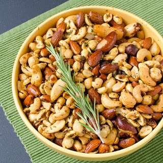 Smoked Nuts with Rosemary Butter.